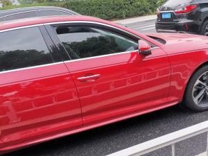 红色奥迪A4L轿车 骚气十足