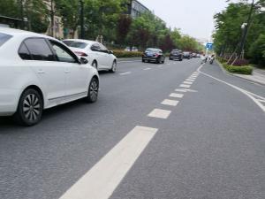 白色虚线意思:可以并线、调换车道(1张)